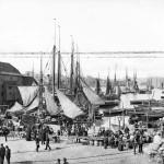 Bryggen i Bergen 1890/1900. Foto: Knud Knudsen