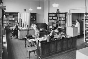 Det gamle Bibliotek på Bergen Museum 1952