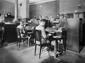 Interiør fra kontoret til Bergens Kreditbank 1928/38. Foto: Atelier KK