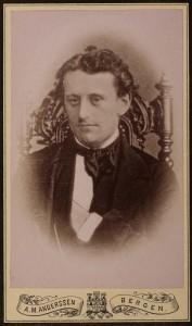 Jacob Prom, 1831 – 1865. Fotograf ukjendt. Reprofotograf A.M.Anderssen, Bergen.