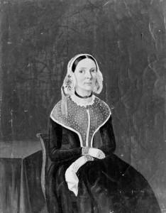 Fru Ontong Wiese. Avfotografert maleri, Bergen Museum.
