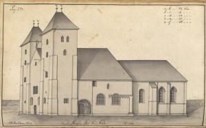 Mariakirken__Tegnet_av_J_J__Reichborn_i_1768